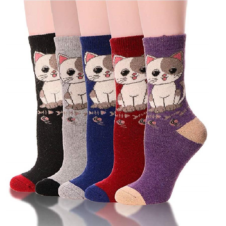 calcetines para mujer de gatos
