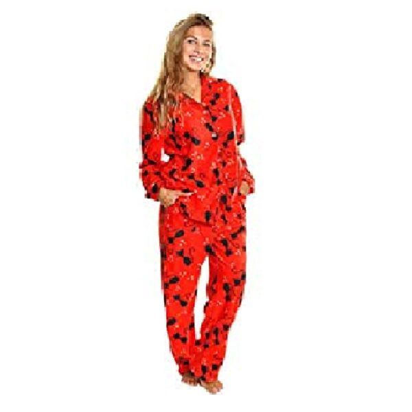 Pijama de forro polar para mujer de gatos