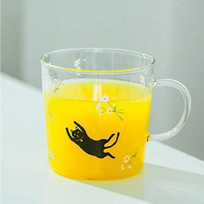 vasos para jugos de vidrio diseños de gatos