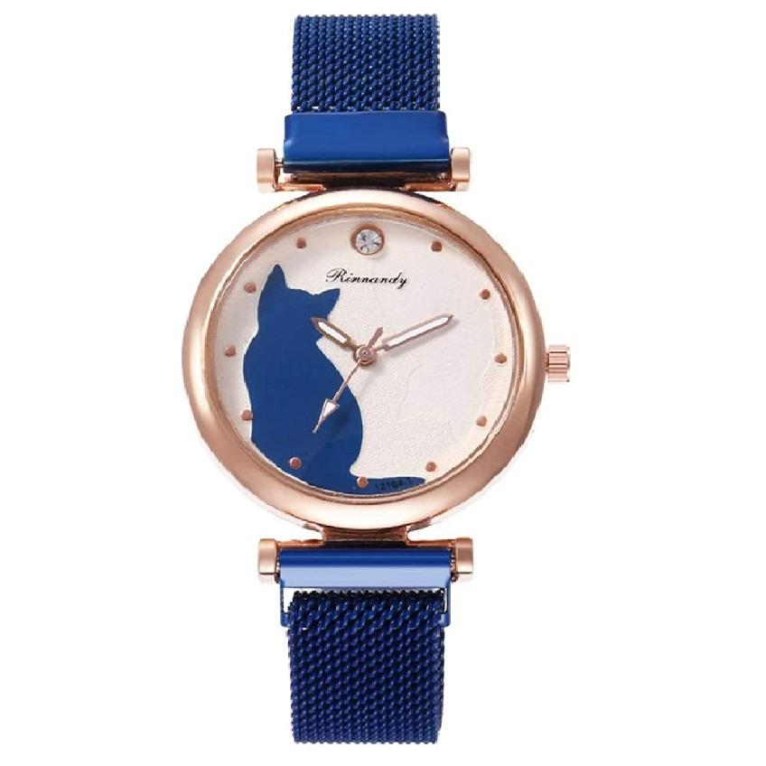 reloj de mujer de pulsera de gatos