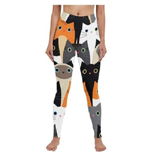 leggins, mallas deportivas mujer de gatos gimnasio