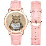 Reloj de pulsera para mujer de gatos