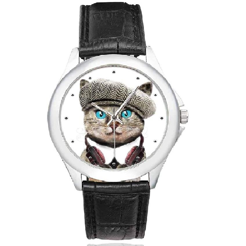 Reloj de pulsera para mujer, diseño de gato