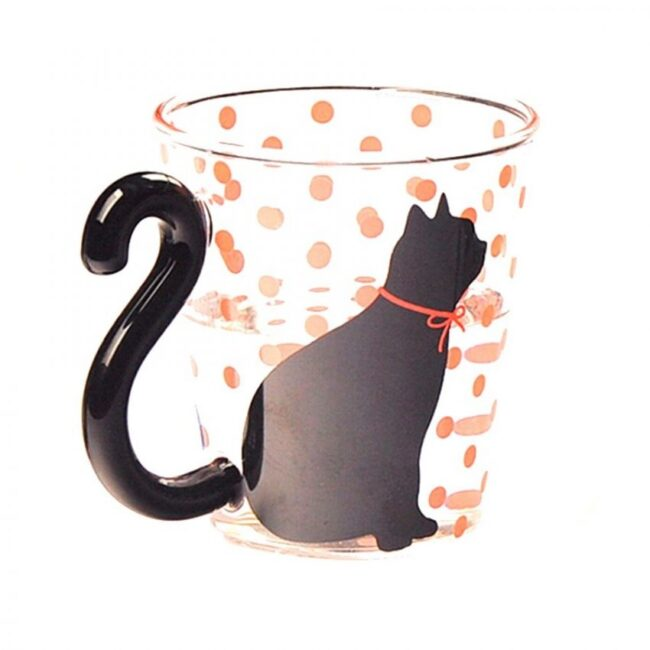 vasos de vidrio modernos diseño de gatos