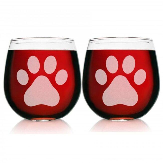 vasos de vidrio modernos de gatos