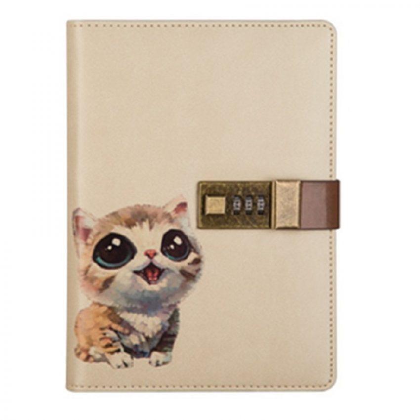 diarios personales con candado de gatos