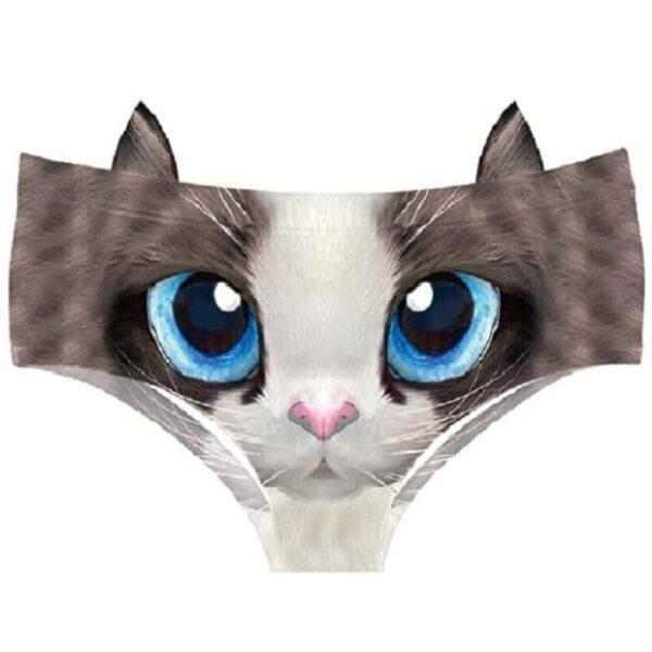 ropa interior de mujer de gatos