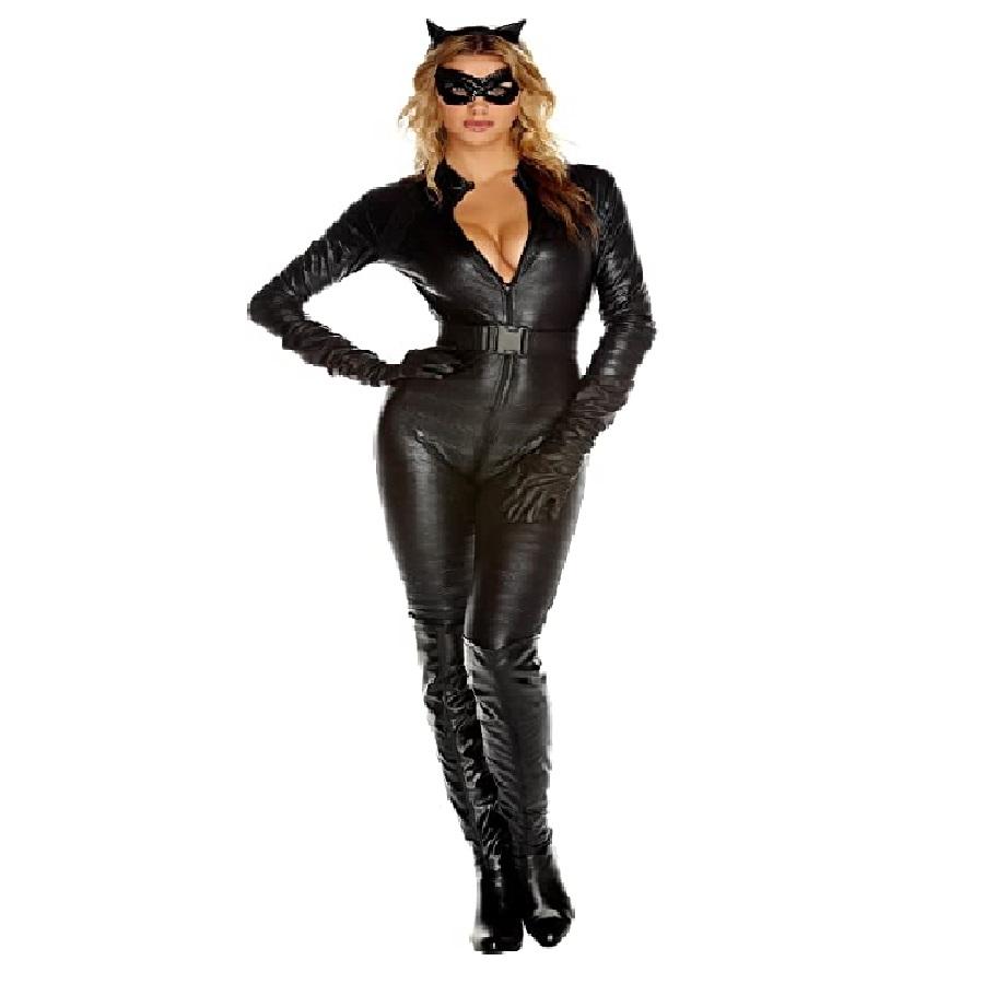 Disfraz de gato, color negro, saga sexy