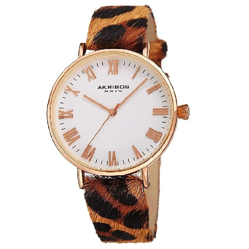 reloj mujer animal print de gato leopardo