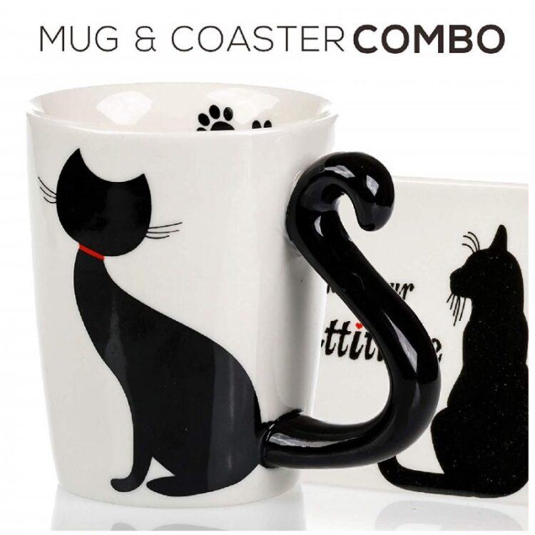 tazas de porcelana para café de gatos