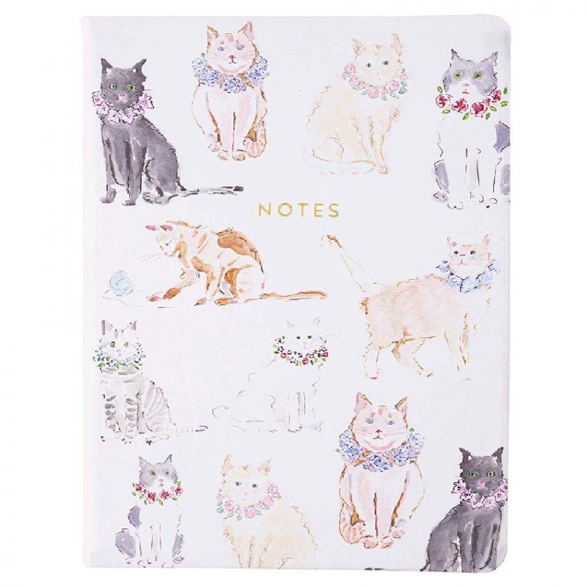 diario de notas ecológico diseño de gatos