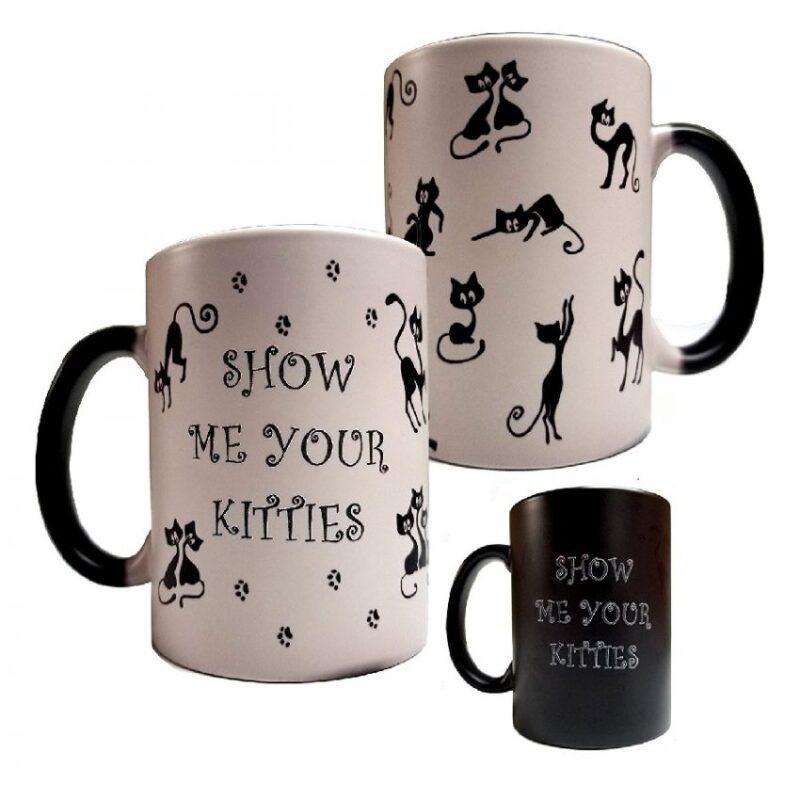 taza de cerámica diseño de gatos