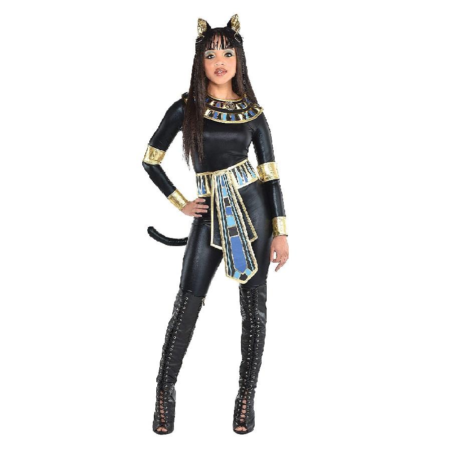 Disfraz de diosa egipcia mujer de gatos