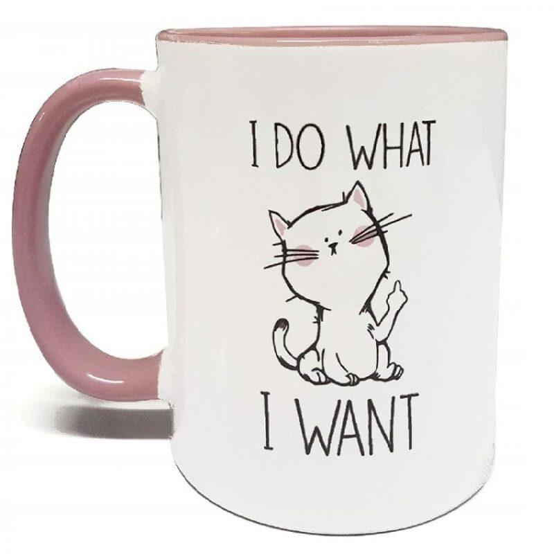 tazas para café de porcelana diseño de gatos