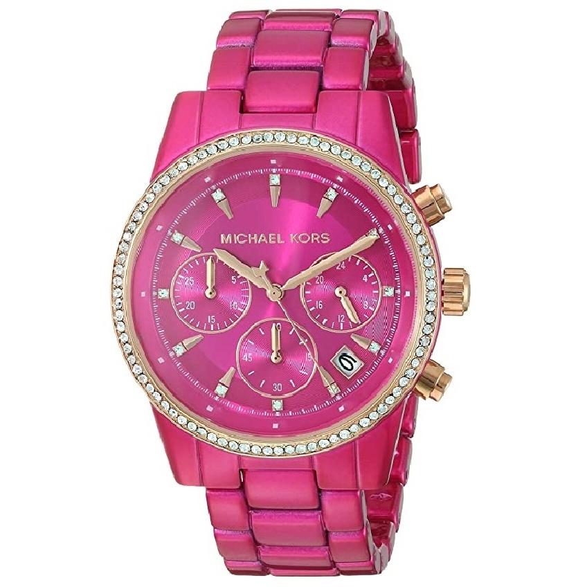 Michael Kors Ritz Reloj para mujer rosado