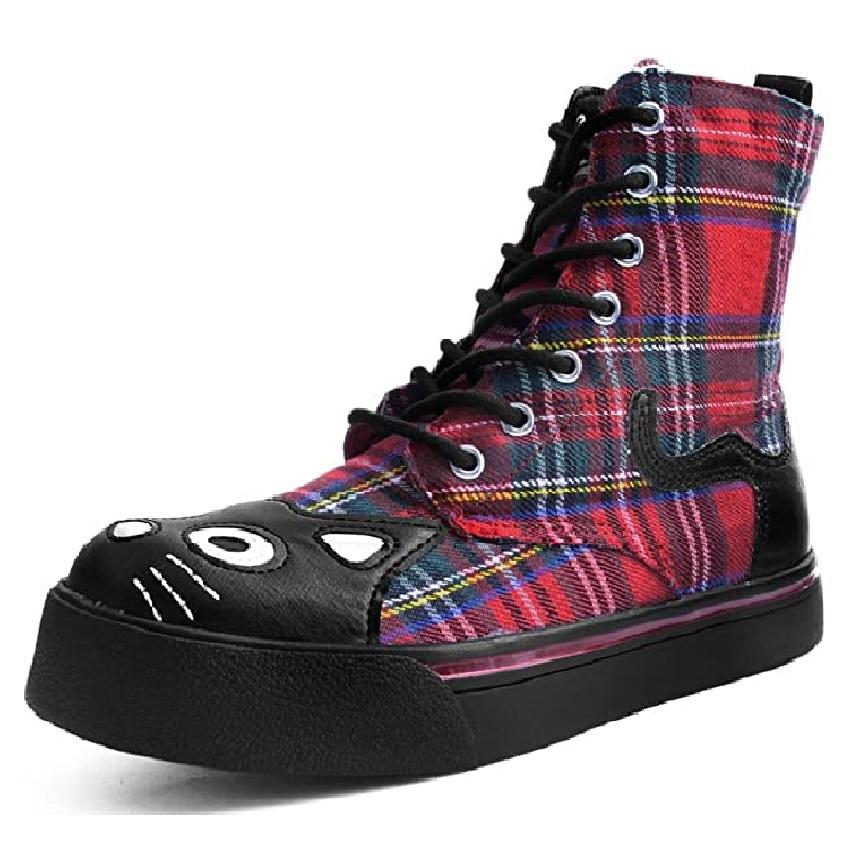 zapatillas tipo botines de mujer plataforma de gatos