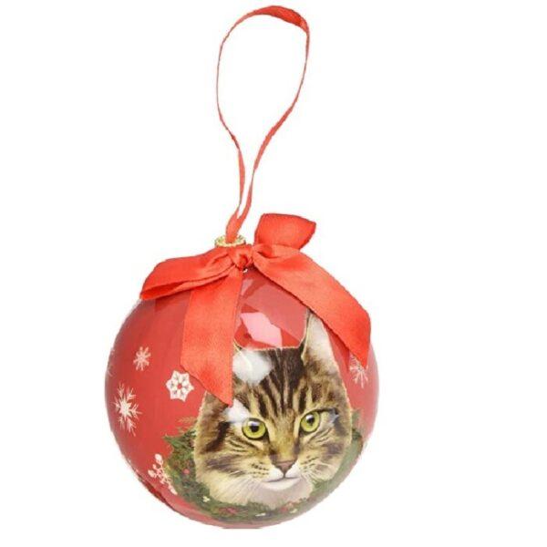 esferas de navidad de gatos