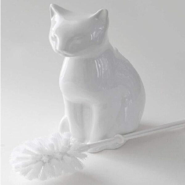 soporte de cepillo de cerámica para gato