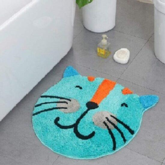 felpudo para puerta delantera de gato