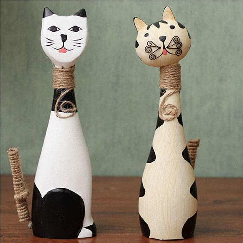 adorno de madera para sala de gato