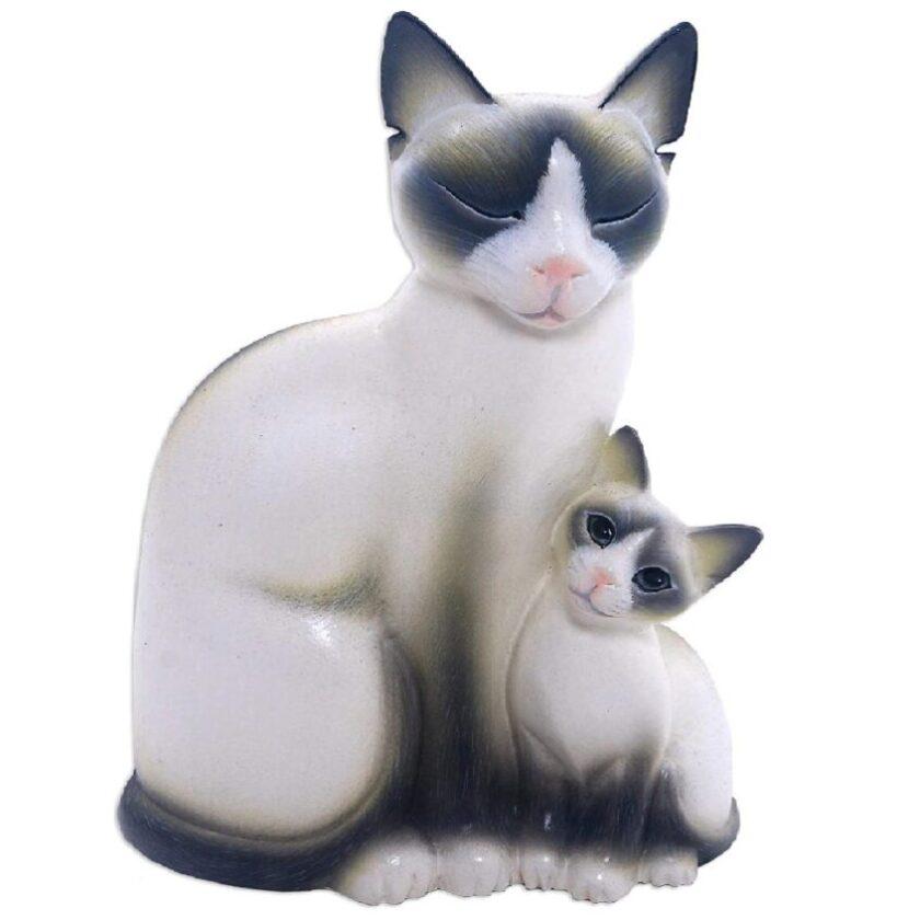 Escultura de madera para gato