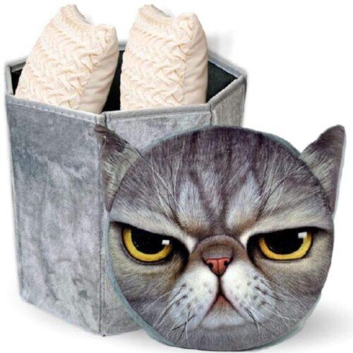 Organizador de ropa para baño de gato