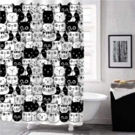 cortinas de baño corredizas de gatos