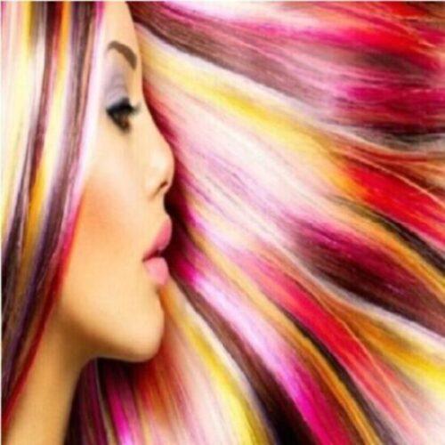 Tinte de cabello de mujer de gatos