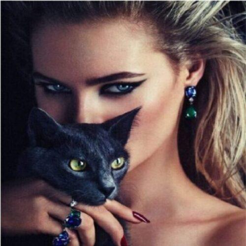 maquillaje de ojos de gato