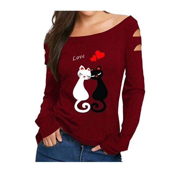 camisetas de mujer de gato