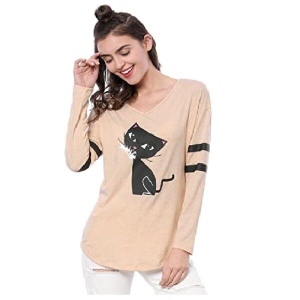 polera de mujer de moda de gato
