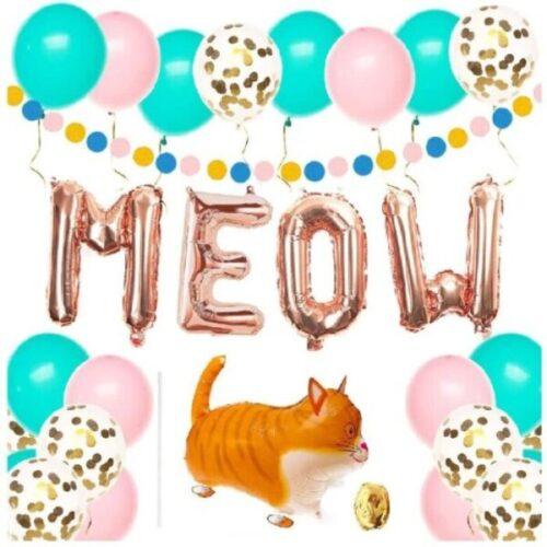 globos de cumpleaños de gatos