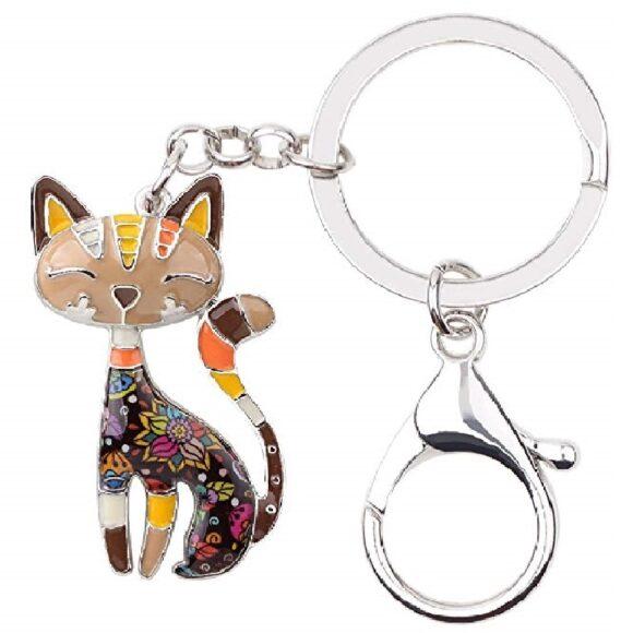 llaveros de gatos de moda