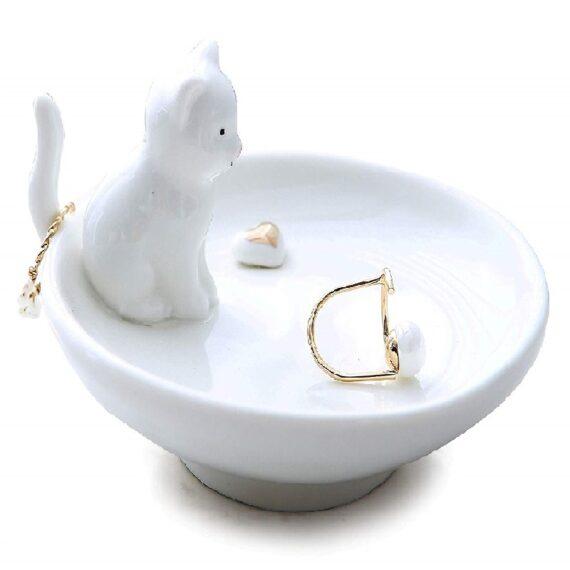 jabonera para anillos de gatos