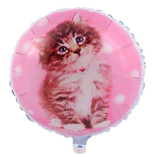 globo metálico para fiesta de gato