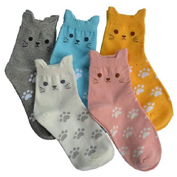 calcetines de mujer de gato