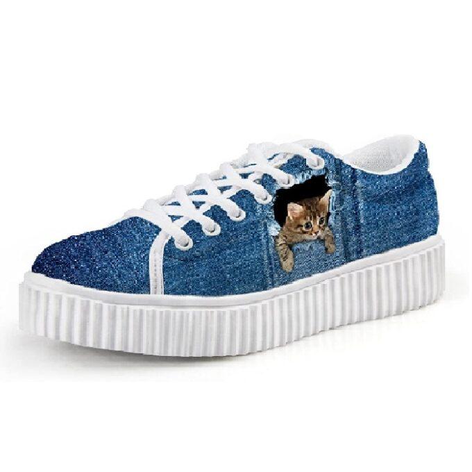 zapatillas de mujer de moda de gato