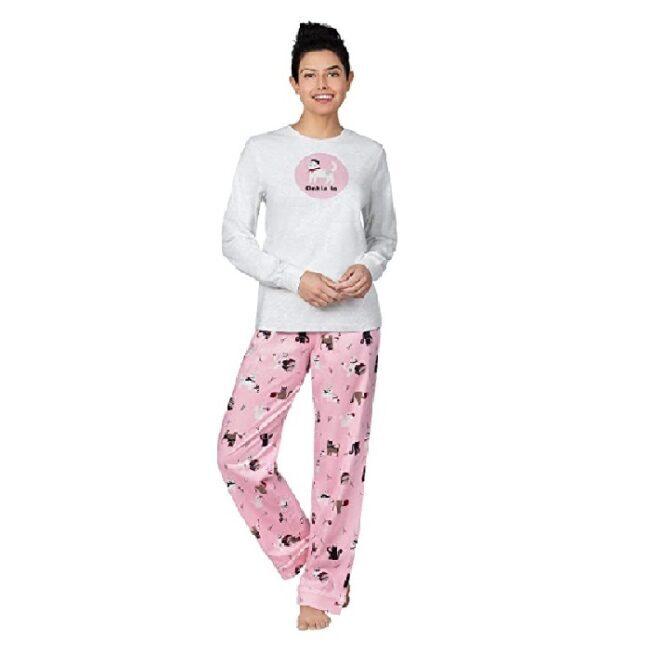 pijamas de mujer largas modernas de gatos