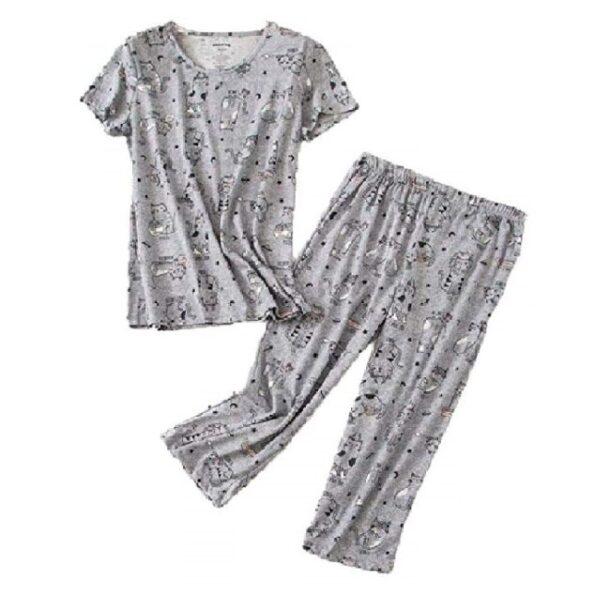 pijamas de mujer de algodón estampados de gatos