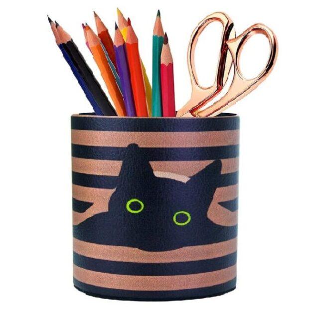 portalapices de oficina de gato