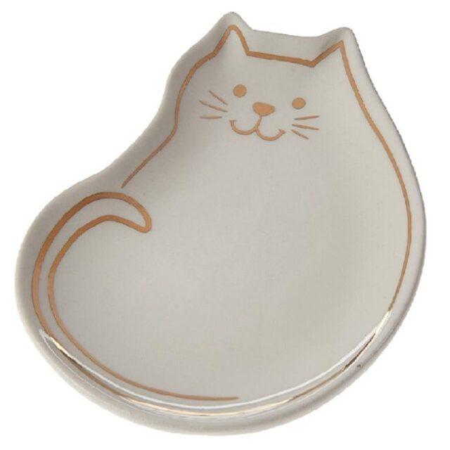 jabonera de cerámica para baño de gatos