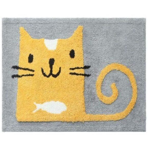 alfombra de baño absorbente de gato