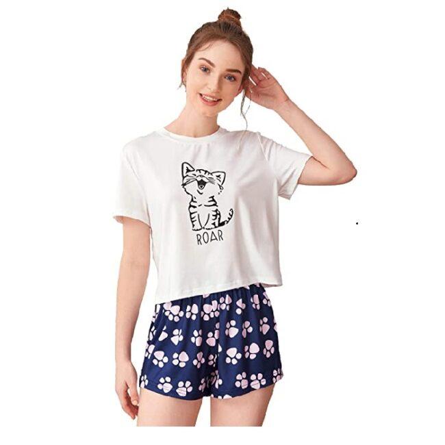 pijama de mujer cómoda de gatos
