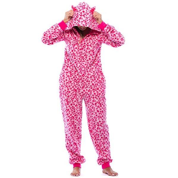 Pijama enteriza animal print de gato